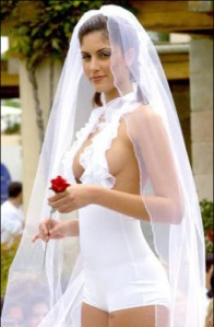 hotpants wedding dress